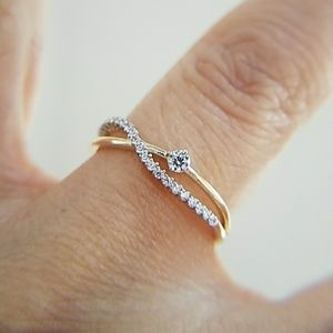 Jewelry - Dainty 14K Yellow Gold promise Engagement  Ring